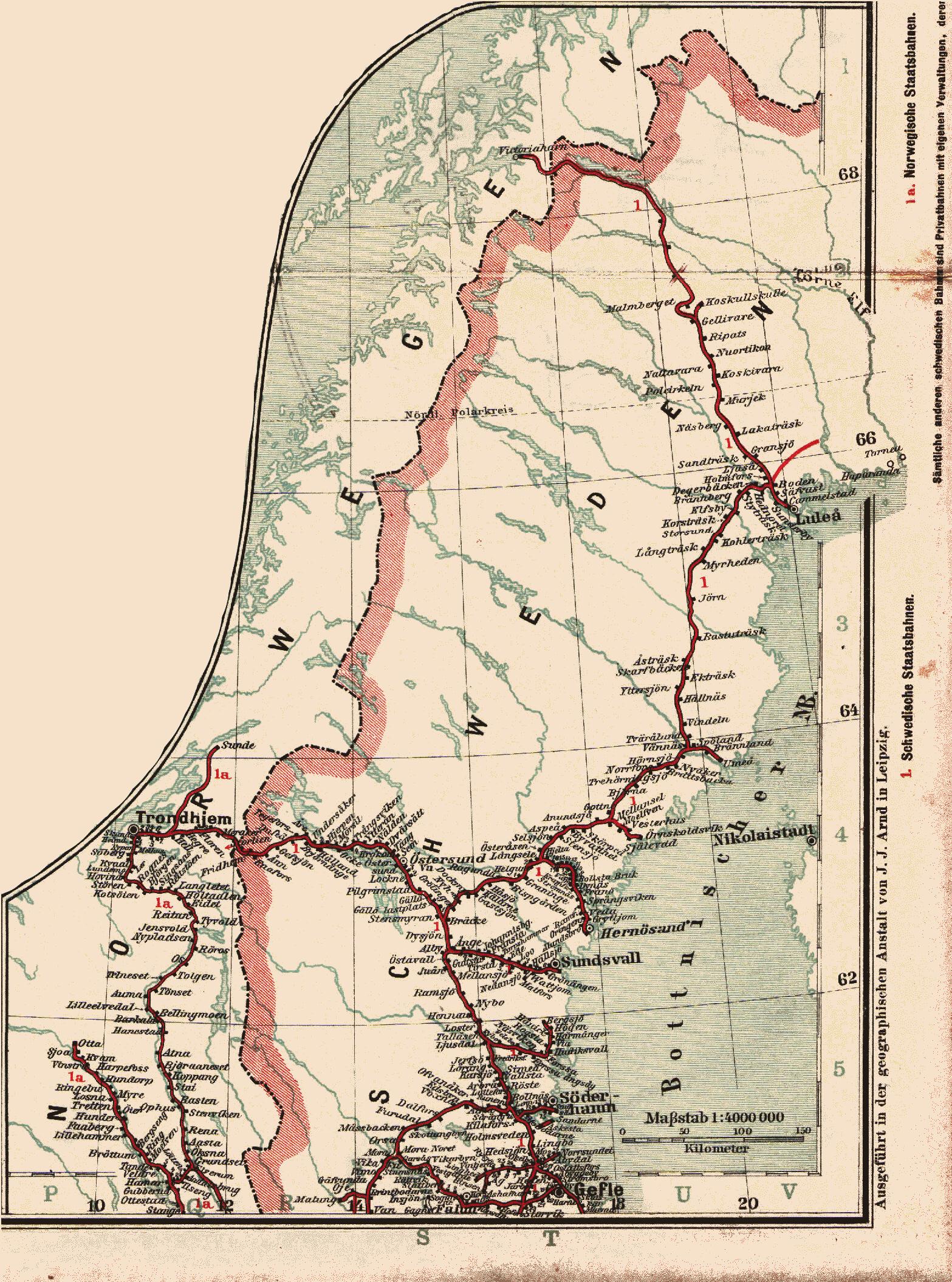 jernbane kart norge Fil:Kart jernbane nordskandinavia 1897 32.png – Wikipedia jernbane kart norge
