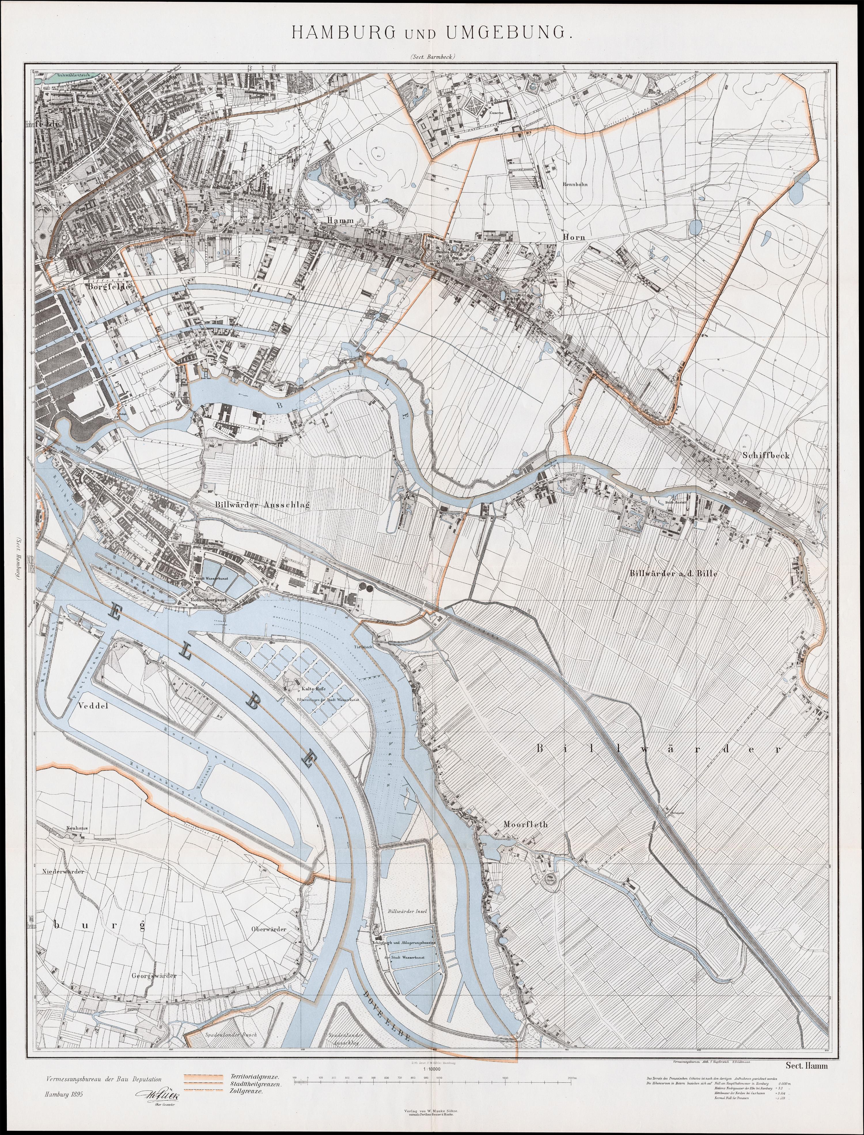 Hamm Karte.Datei Karte Hamm Moorfleet 1895 Jpg Wikipedia
