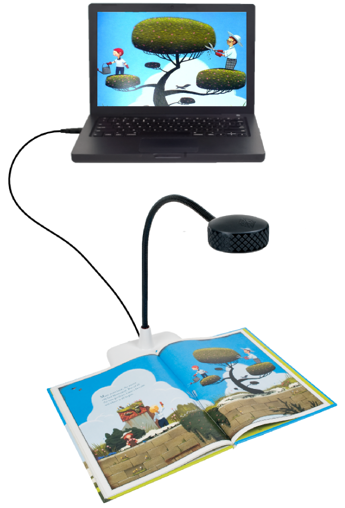 image of a classroom document camera