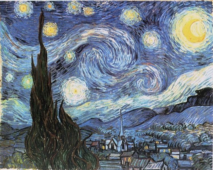 Resultat d'imatges de la noche estrellada