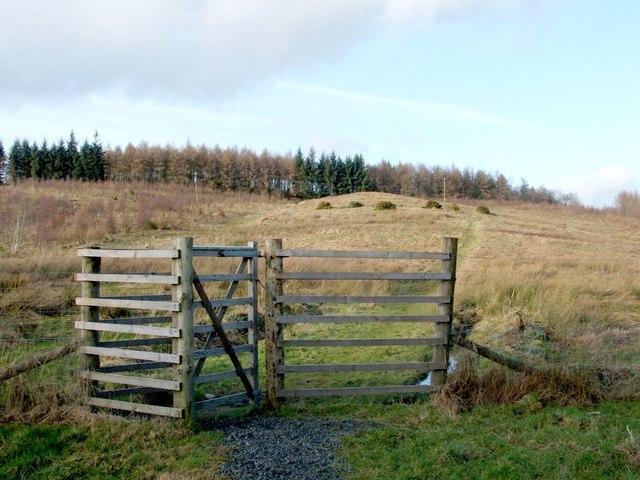 File Loop Walk Return Leg Gate Leading Through Fence