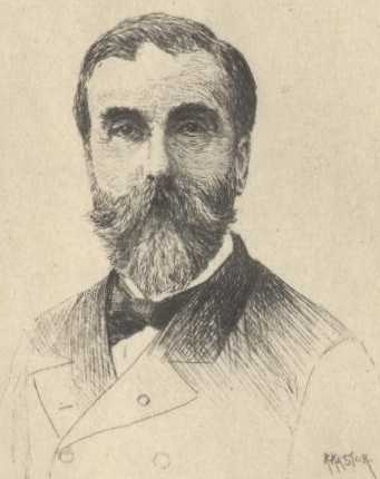 Pencil sketch of Ludovic Halévy, who with Henri Meilhac wrote the libretto for Carmen