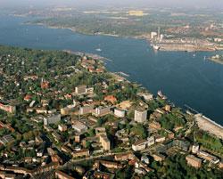 Luftaufnahme des UKSH, Campus Kiel