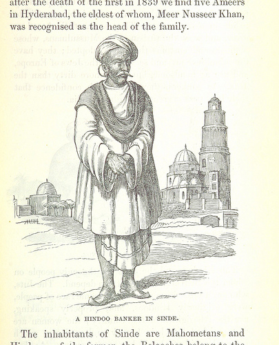 Drawing of man wearing angarkha