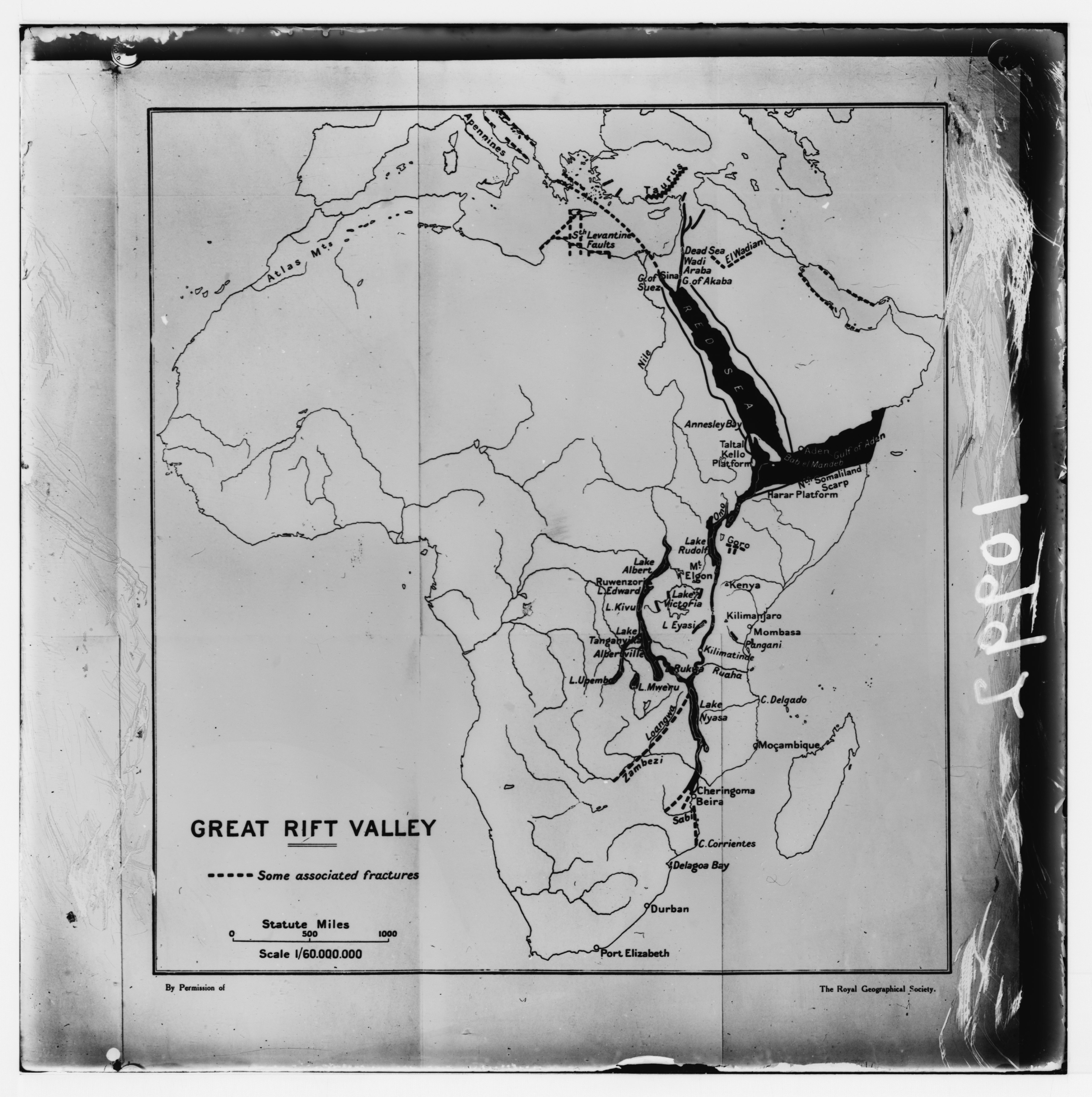File:Map of Africa showing the 'Great Rift Valley' cont'in