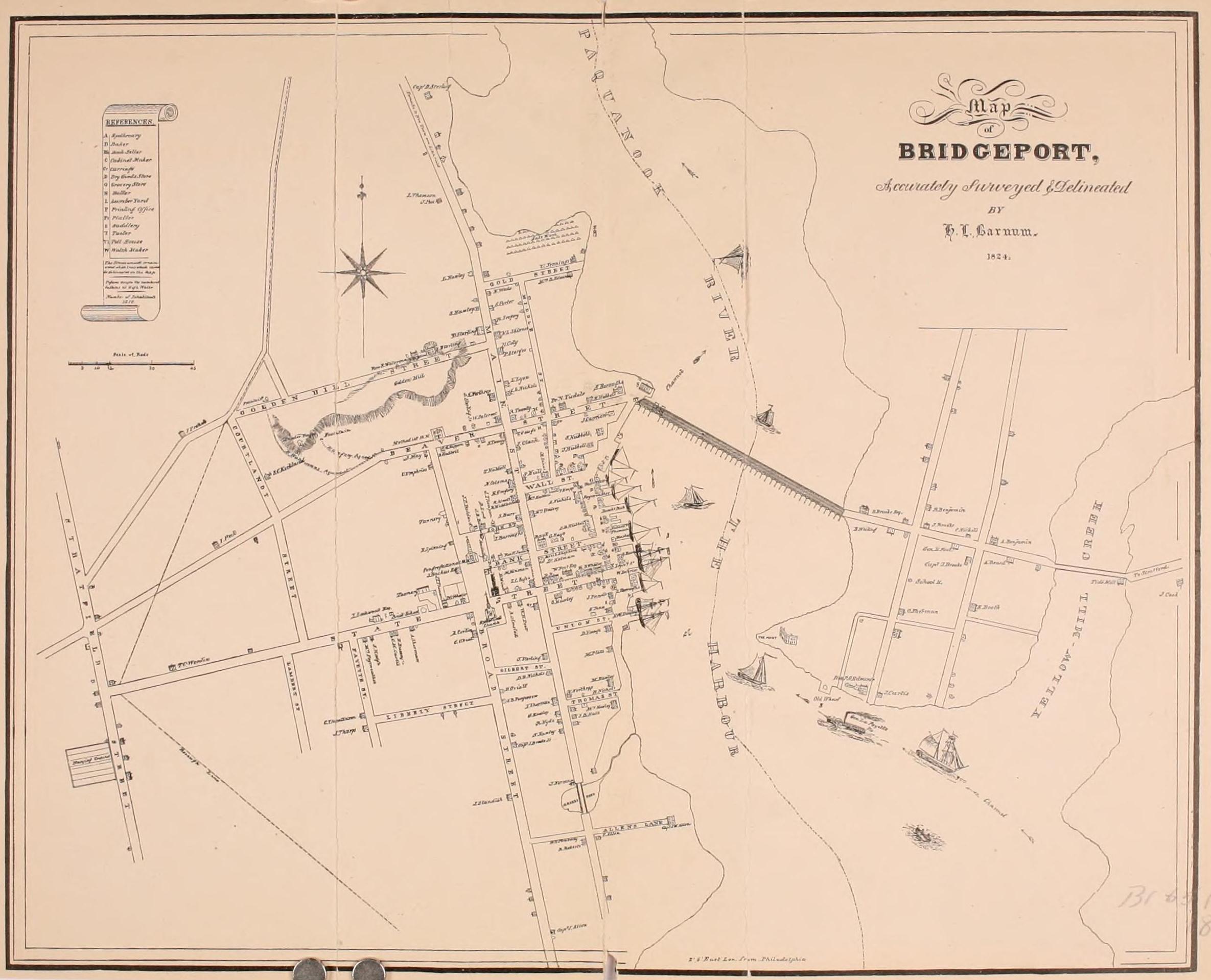File:Map of Bridgeport, 1824.jpg - Wikimedia Commons