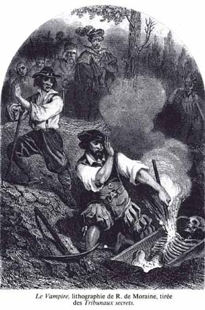 Le Vampire,engraving by R. de Moraine