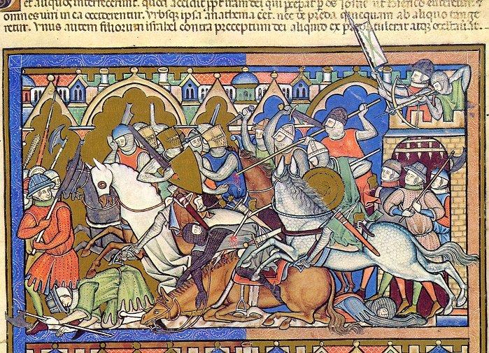 La Biblia de Maciejowski o Biblia de los Cruzados (1250) Morgan_Bible_10r