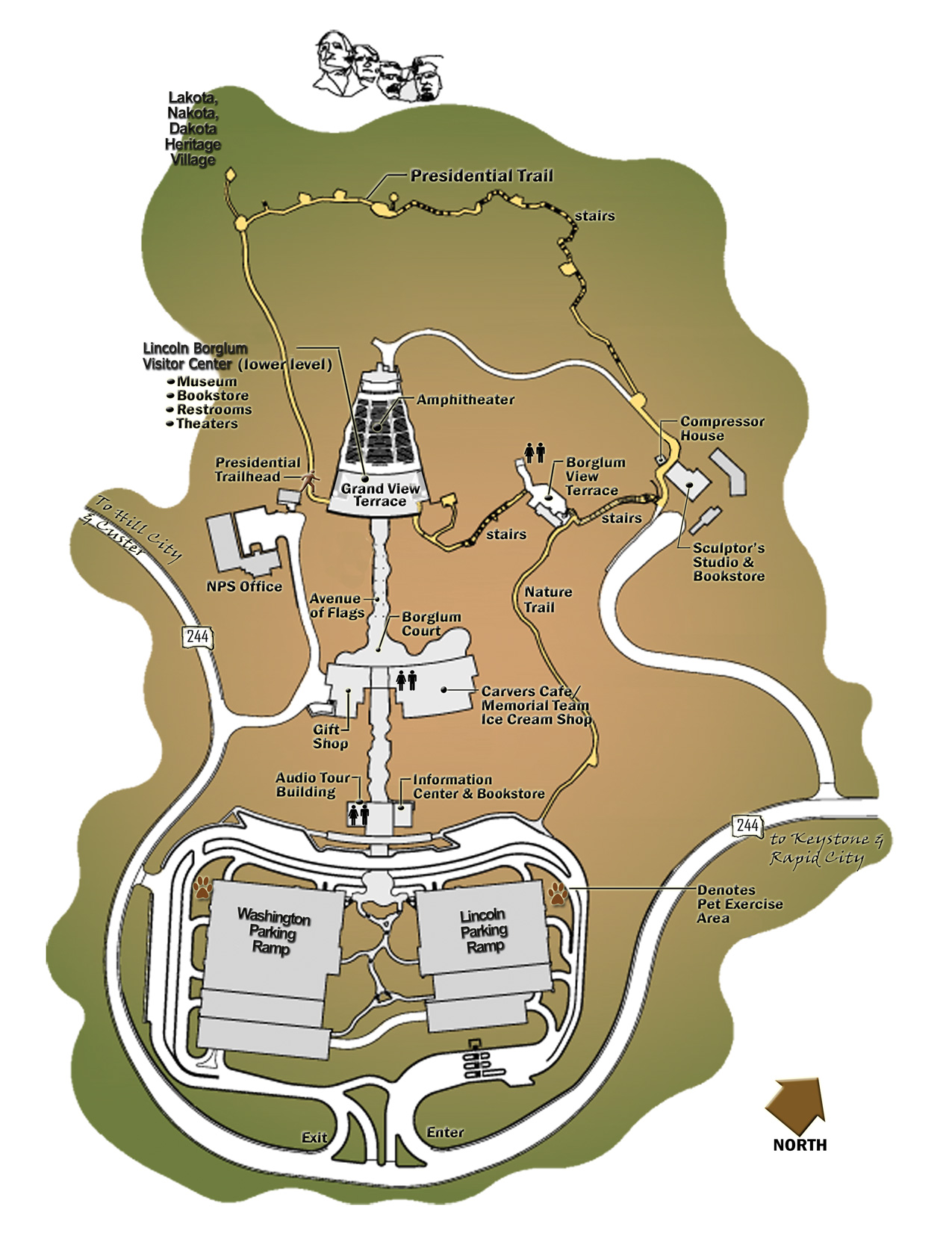 File Nps Mount Rushmore Detail Map Jpg Wikimedia Commons