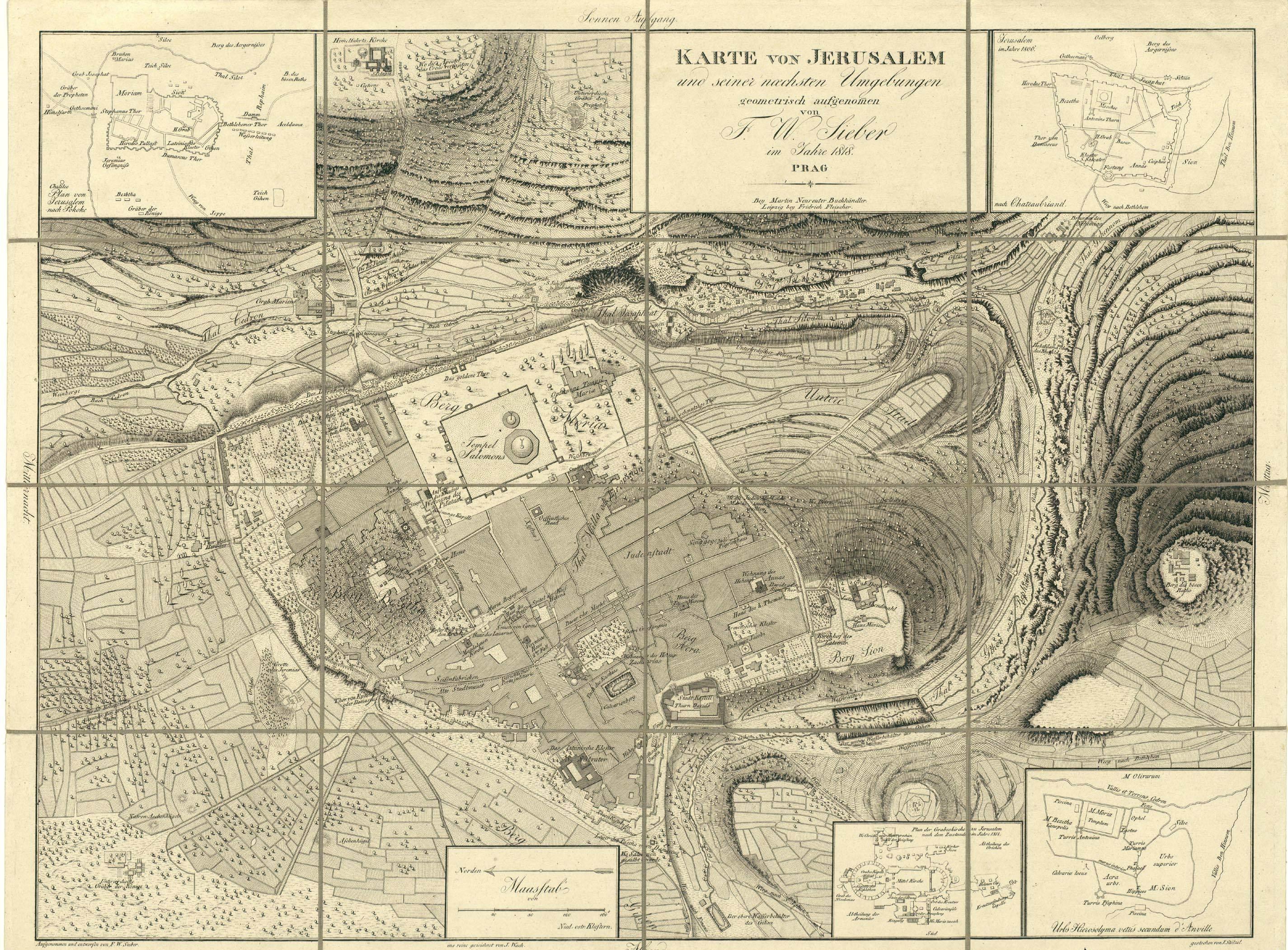 Israel Jerusalem Karte.File National Library Of Israel Sieber Map Karte Von