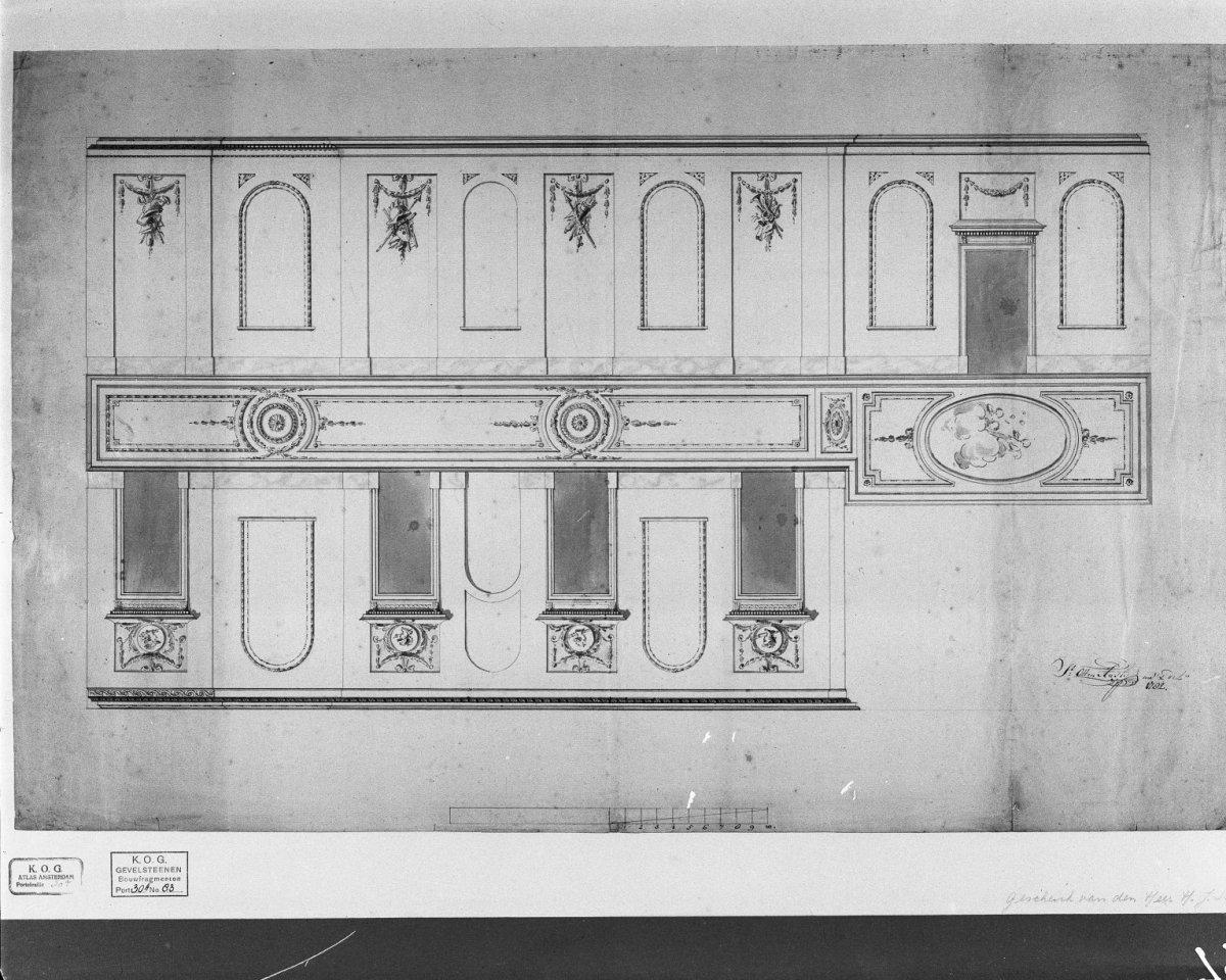 File ontwerp voor decoratie van gang plafond en wanden