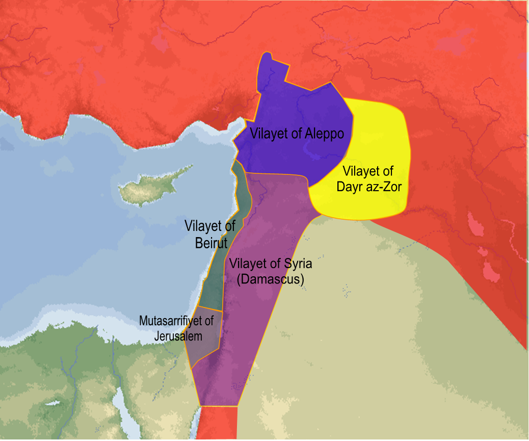 File Ottoman Syria 1918 Png Wikimedia Commons