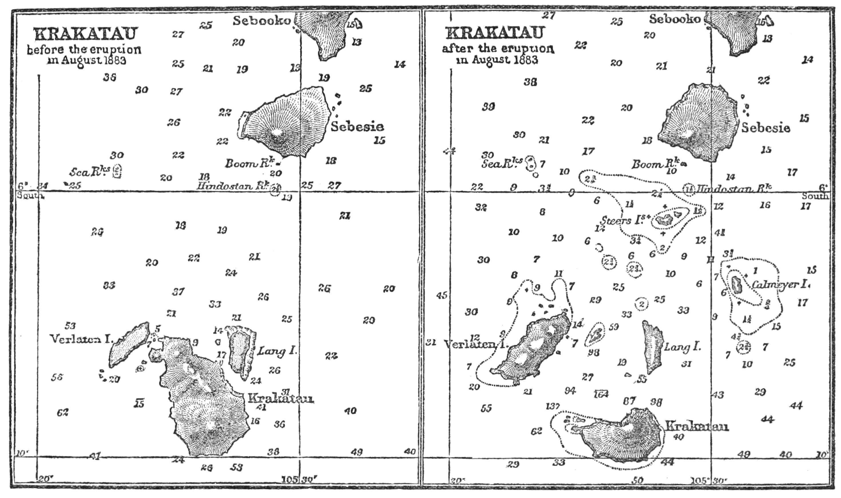 PSM V25 D379 Krakatoa before after eruption in august 1883.jpg