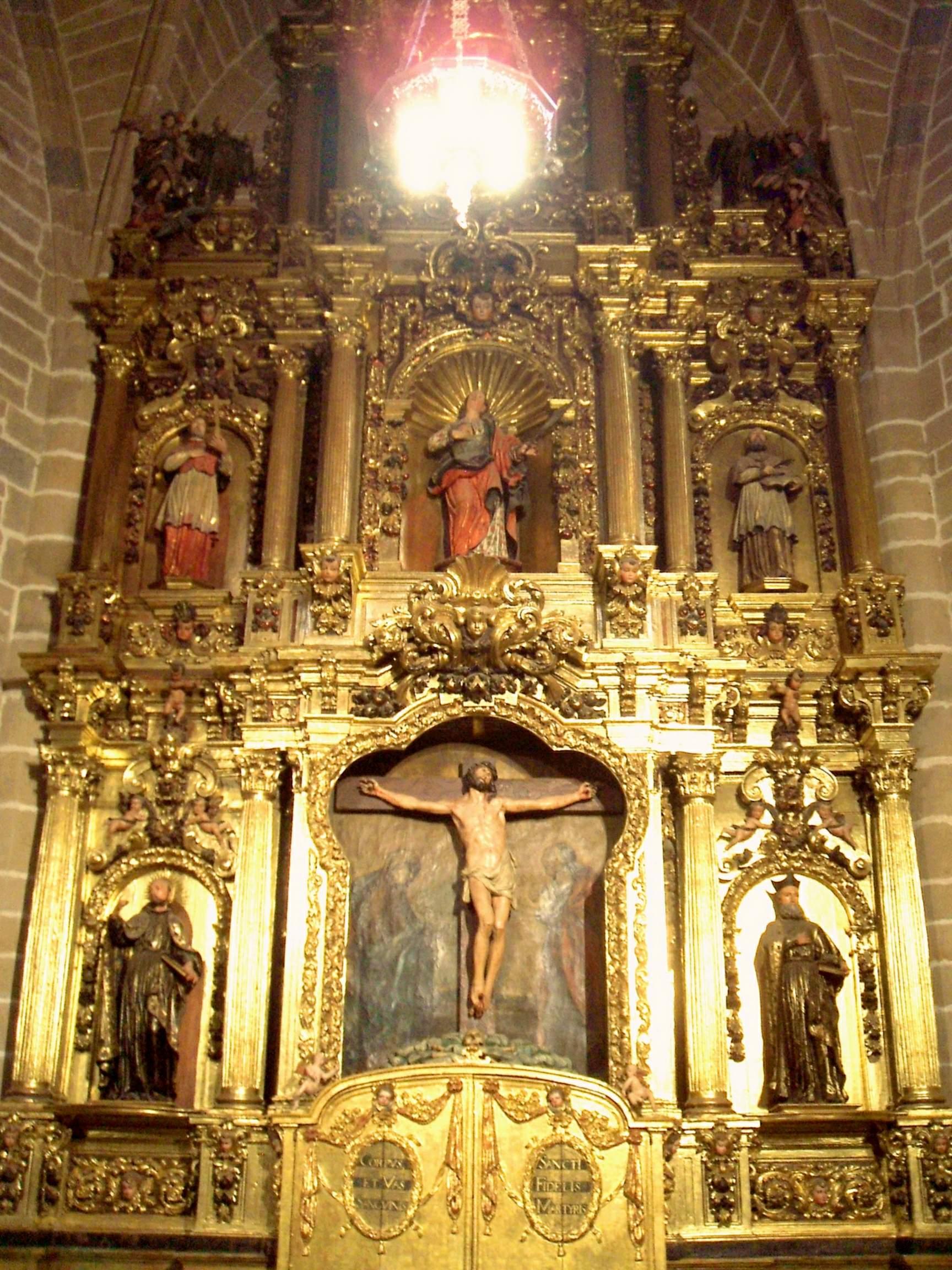 File:Pamplona - Catedral, Retablo de los Capellanes o de Santa Barbara 1.jpg ...