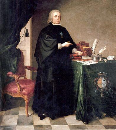 Retrato del politico e ilustrado español Pedro Rodríguez de Campomanes