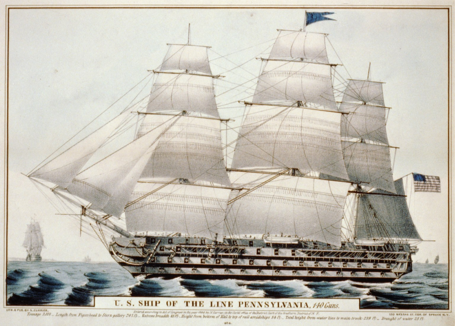 Pennsylvania-ship-of-the-line-Currier-Iv