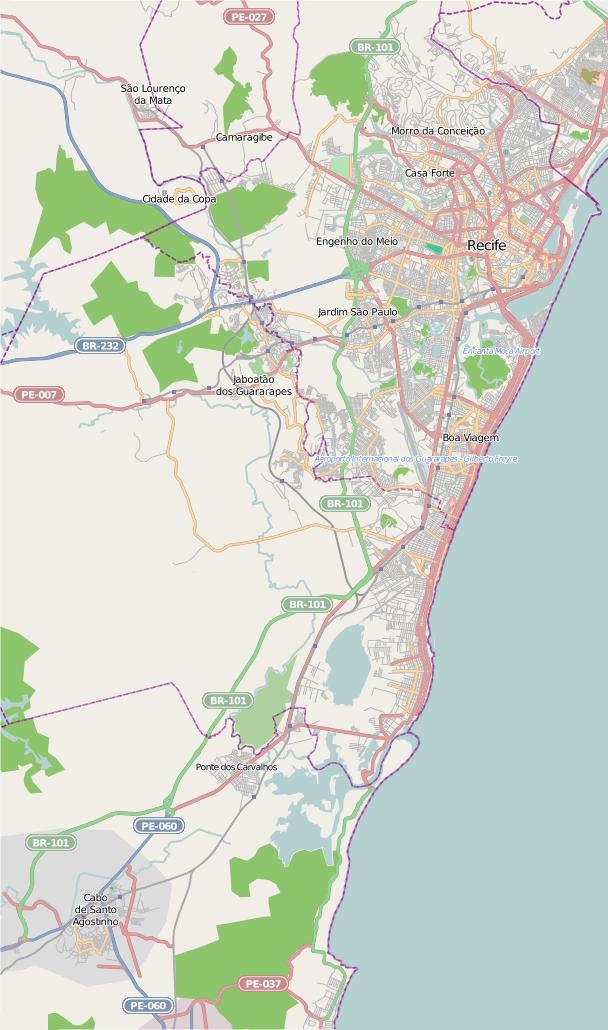 FilePernambuco Recife Jabotão Dos Guararapes Cabo De Santo - Cabo de santo agostinho map