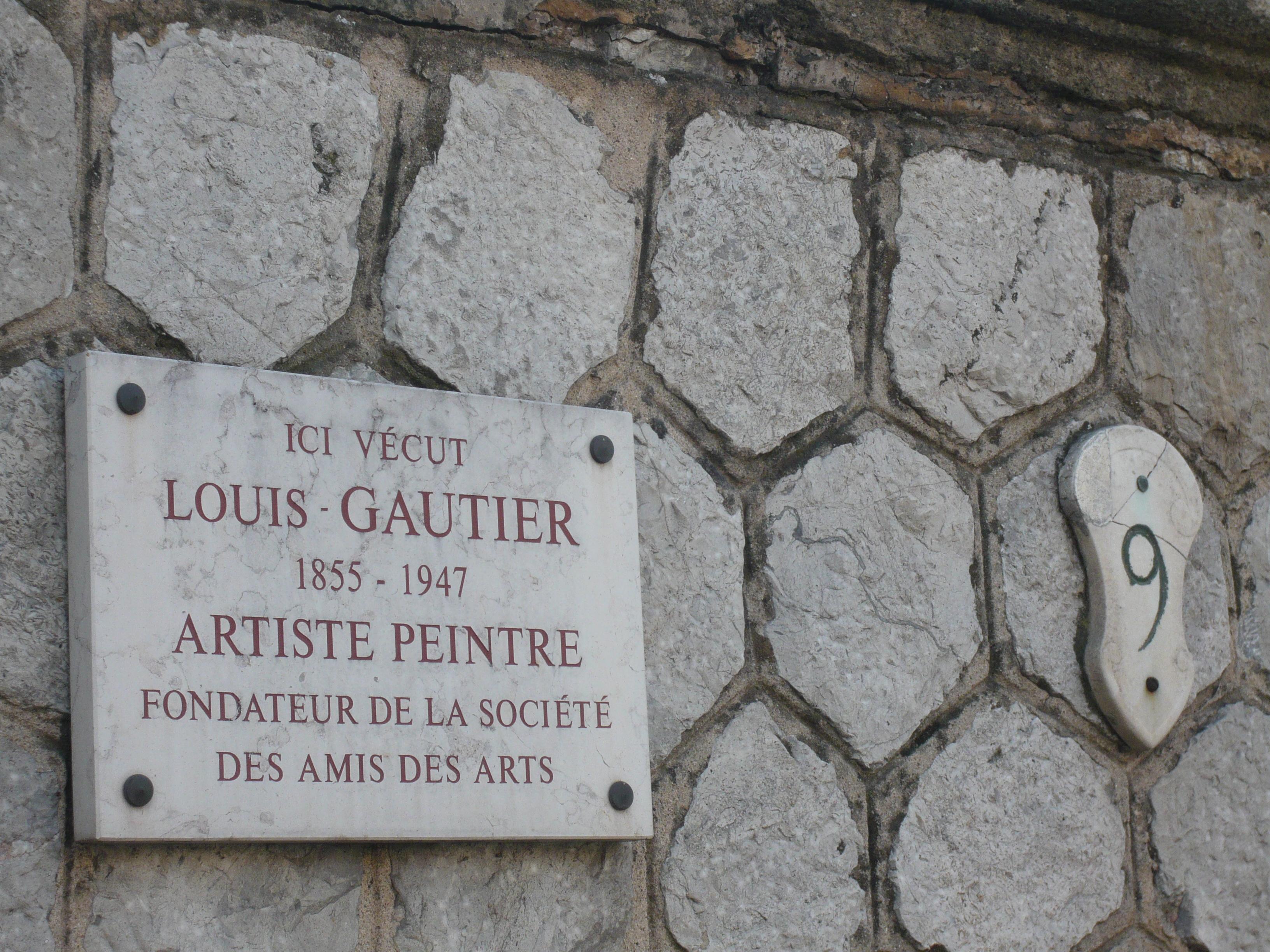 File:Plaque Artiste Peintre Louis Gautier (1855 1947) 9 Avenue Pasteur Aix  En Provence.JPG