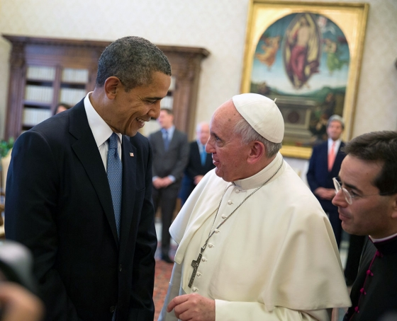Pope Francis meets Barack Obama