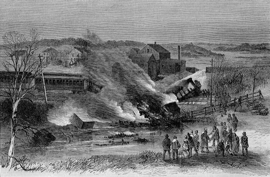 File Railroad Disaster At Meadow Brook Rhode Island Jpg