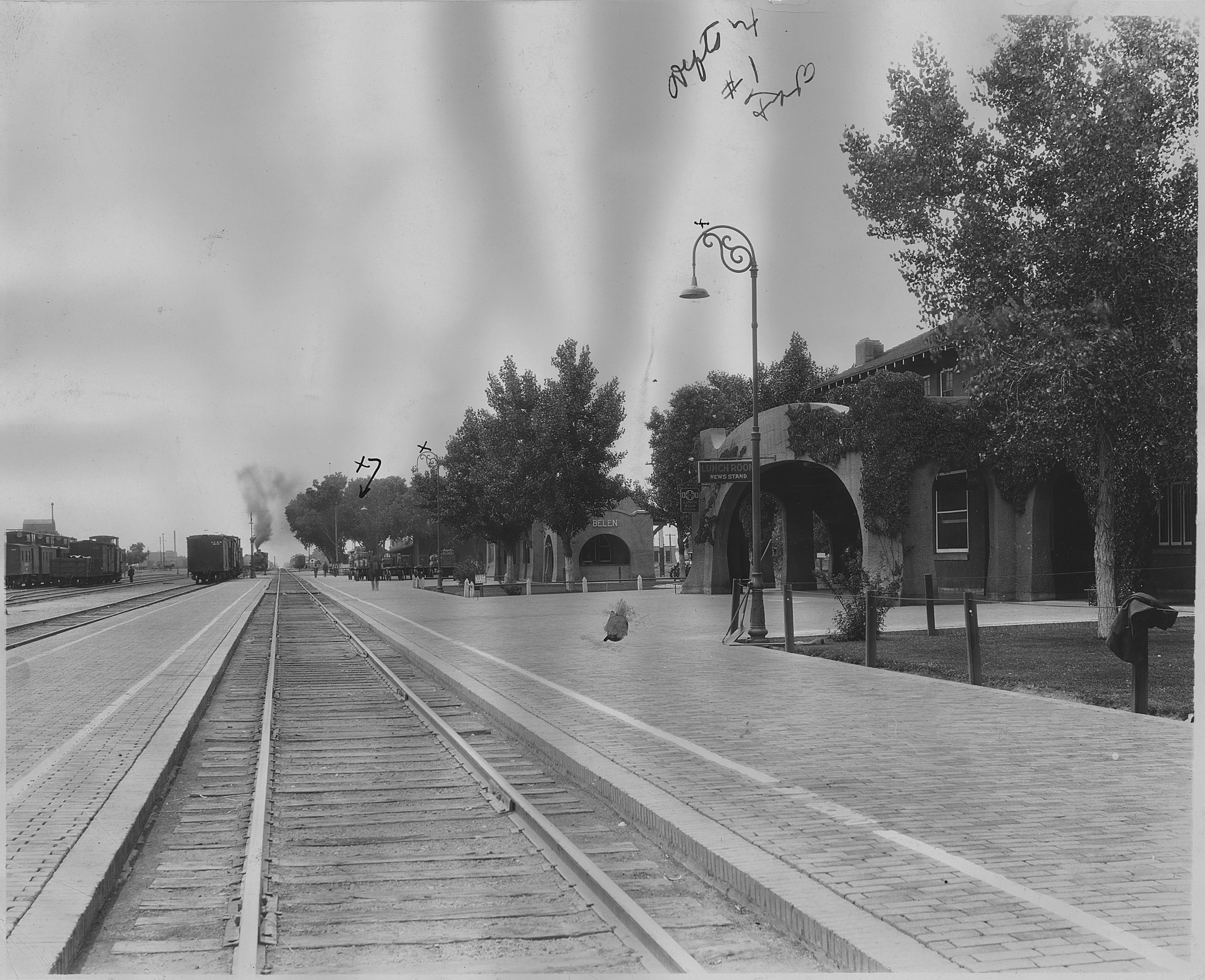 File Railroad Station Belen New Mexico Showing Harvey