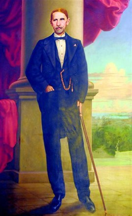 English: Oil portrait of Juan Pablo Duarte, fo...
