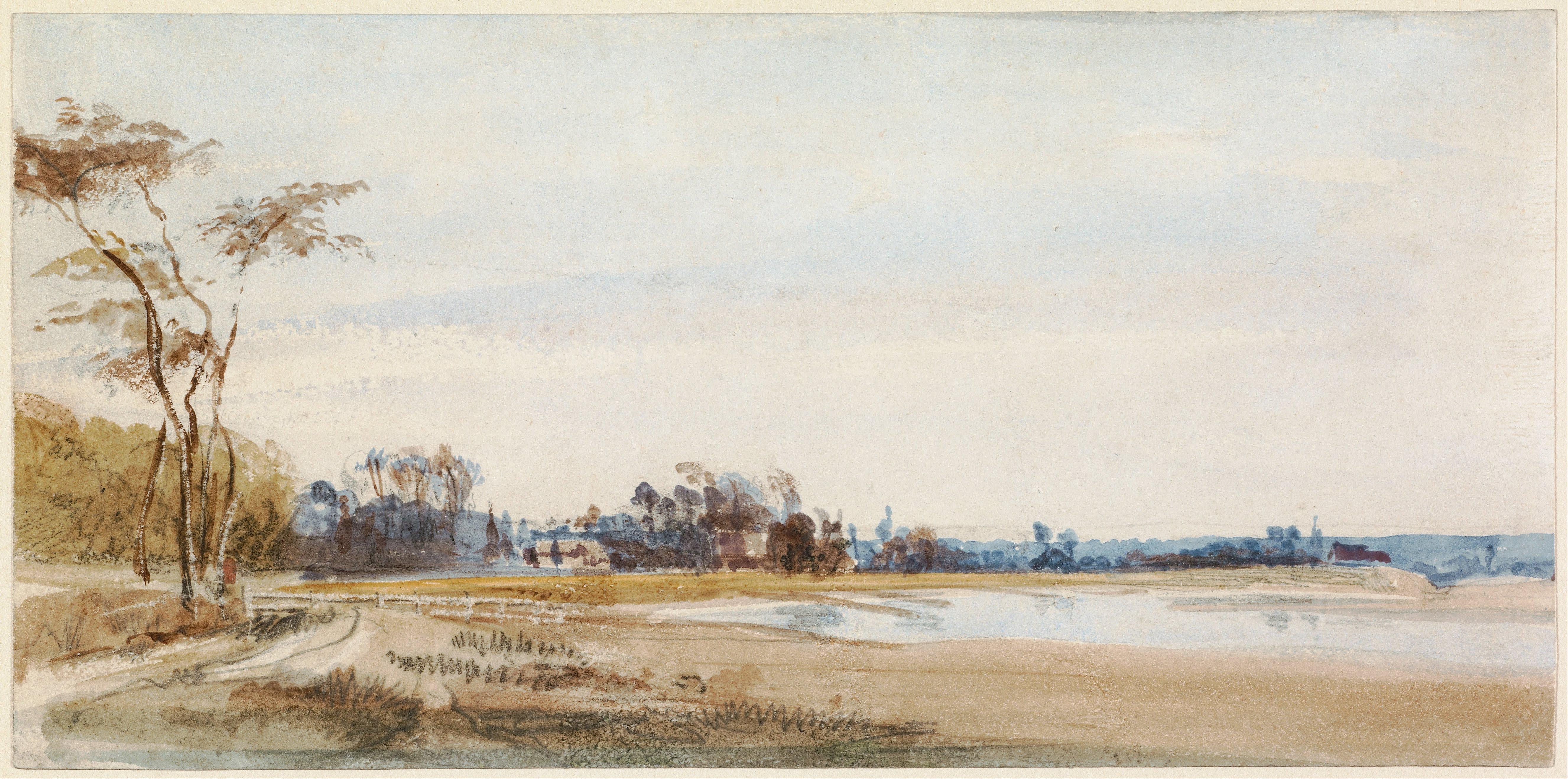 File:Richard Parkes Bonington (British - The Salt Marshes ...