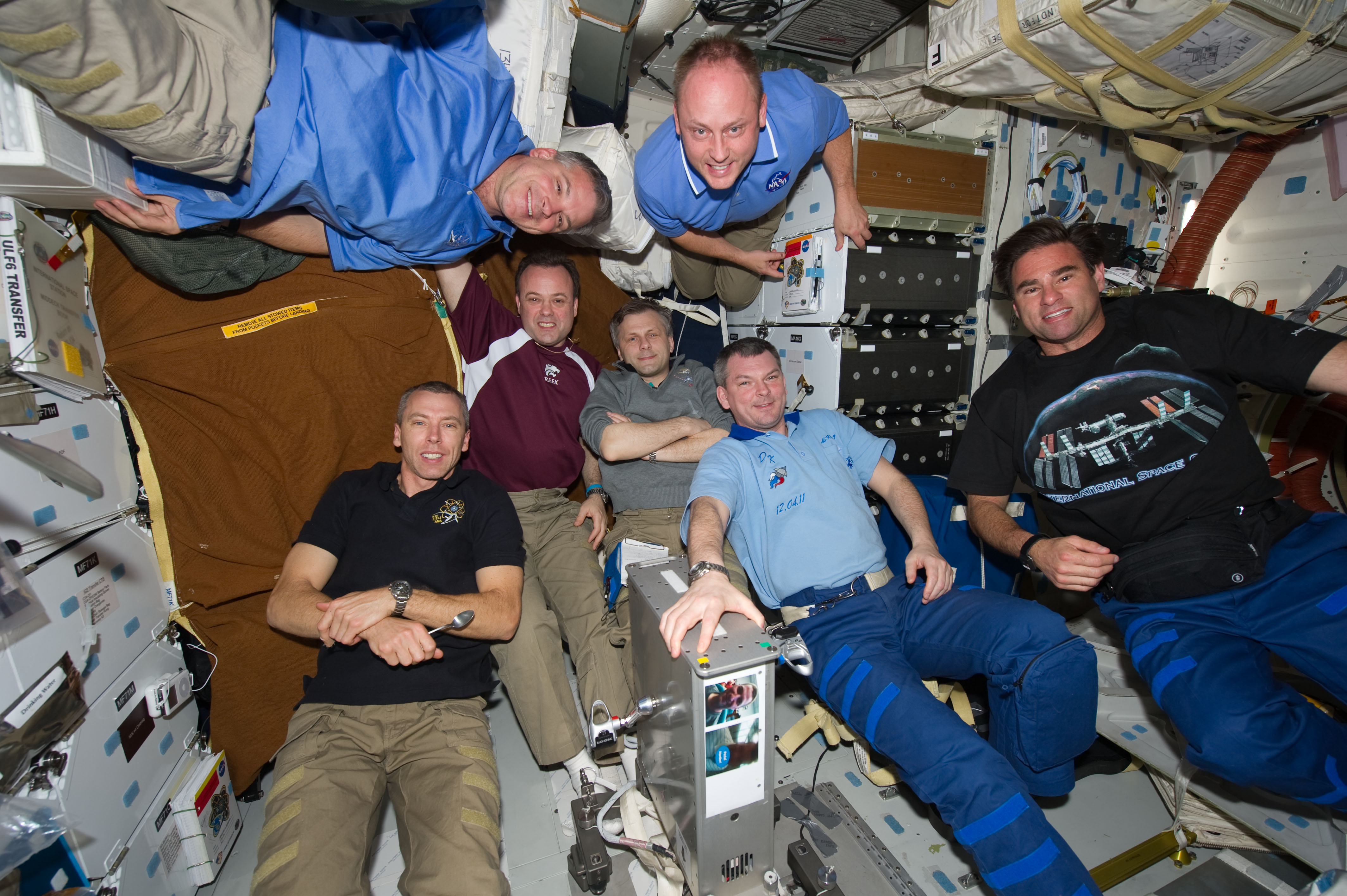File Sts 134 And Expedition 28 Crew Members On The Middeck