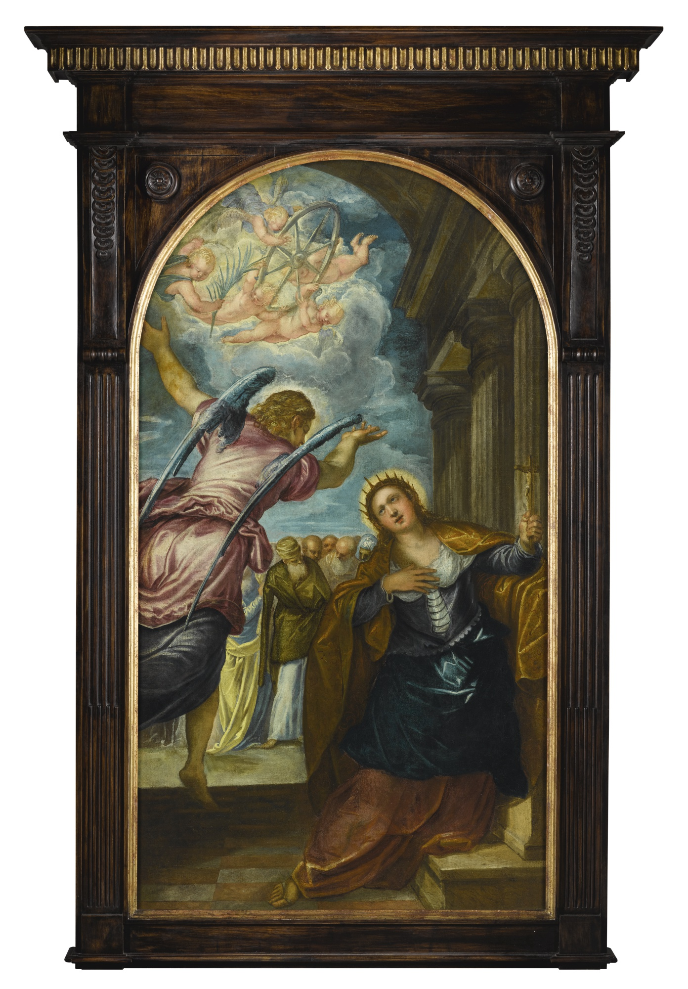 Saint Catherine and angel by Tintoretto (D.Bowie's collection).jpg