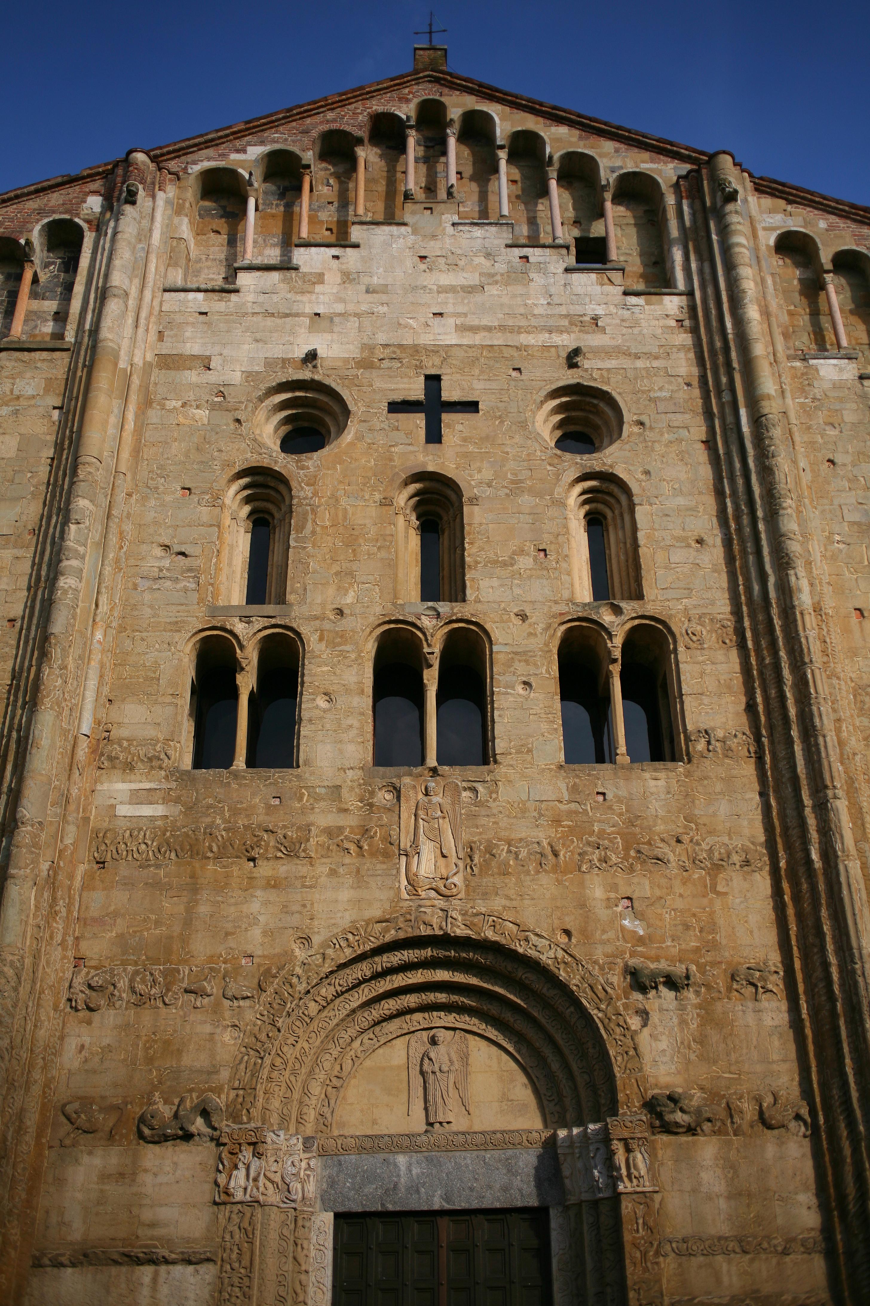 File San Michele Maggiore Pavia Veduta Prospettica Della