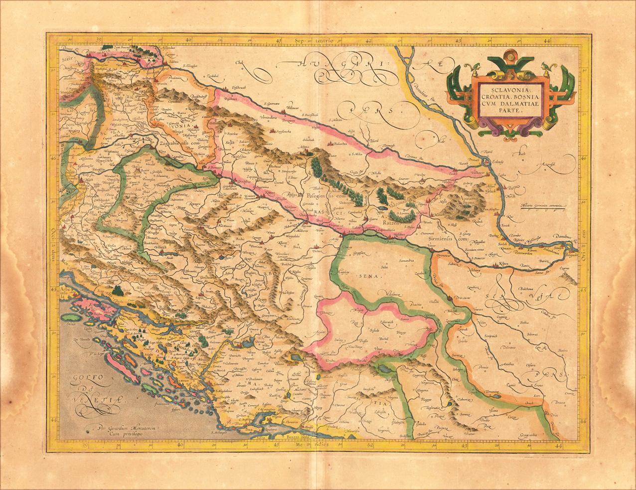 Granice Srbije i Kosova kroz vrijeme Sclavonia_Croatia_Bosnia_Dalmatia_1609