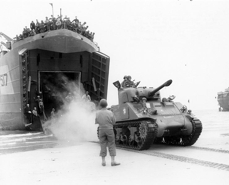 Free French 2nd Armored Division in Normandy during Operation Overlord.