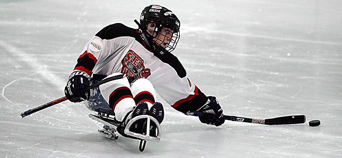 Sled hockey - Ice sledding