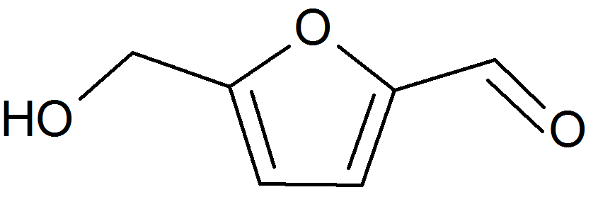hydroxymethylfurfural molecule