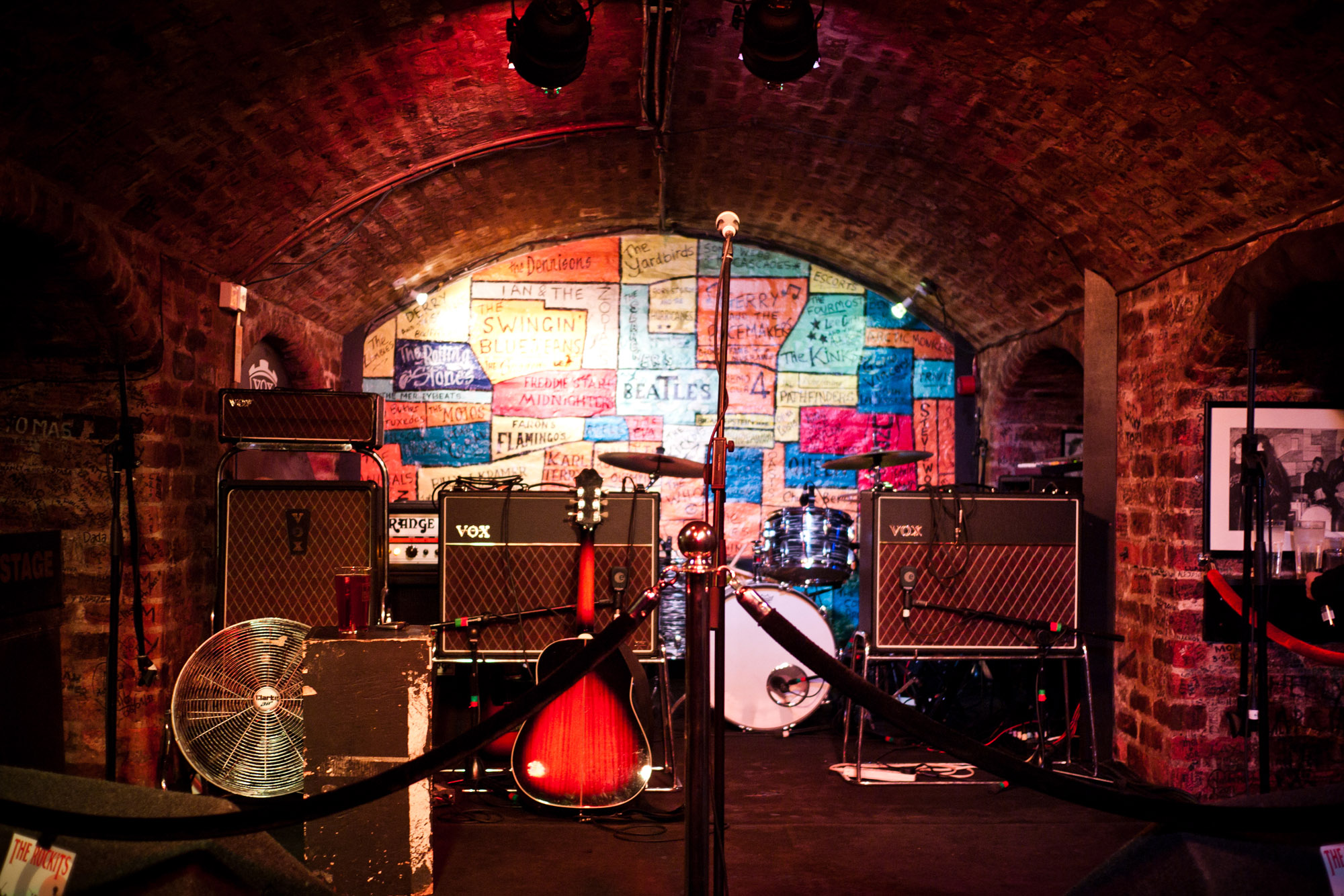 60s Design File The Cavern Club Stage Set Up Mathew Street