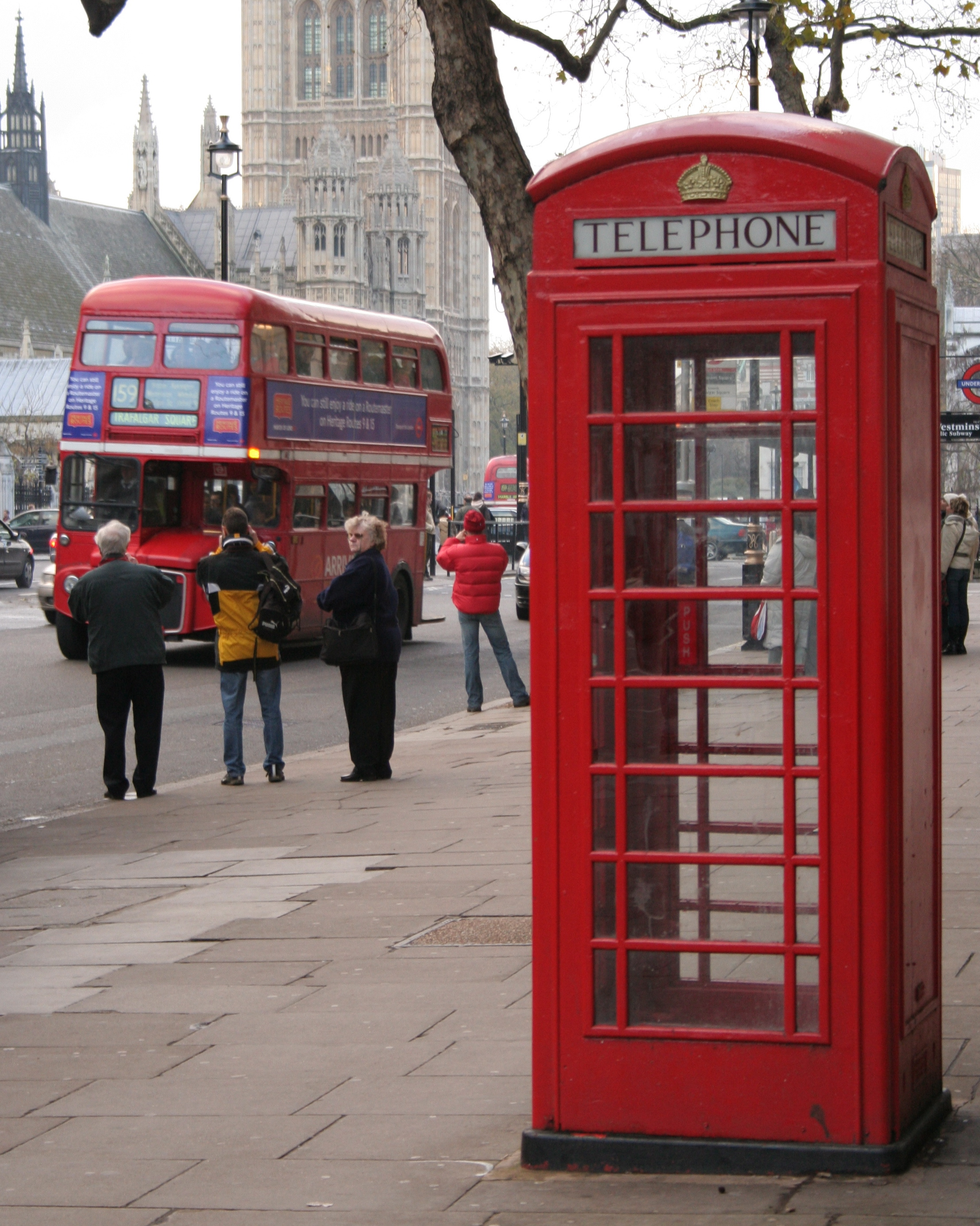 File The Palace Of Westminster A Routemaster Bus And A
