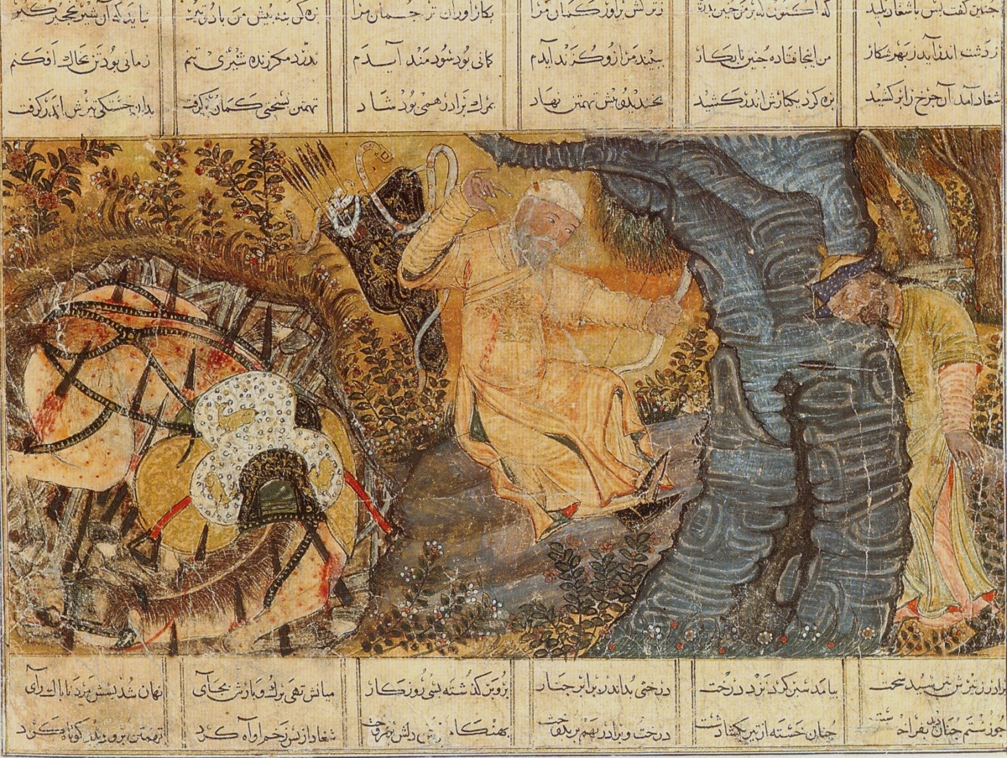 The_death_of_the_hero_Rustam_and_his_hor