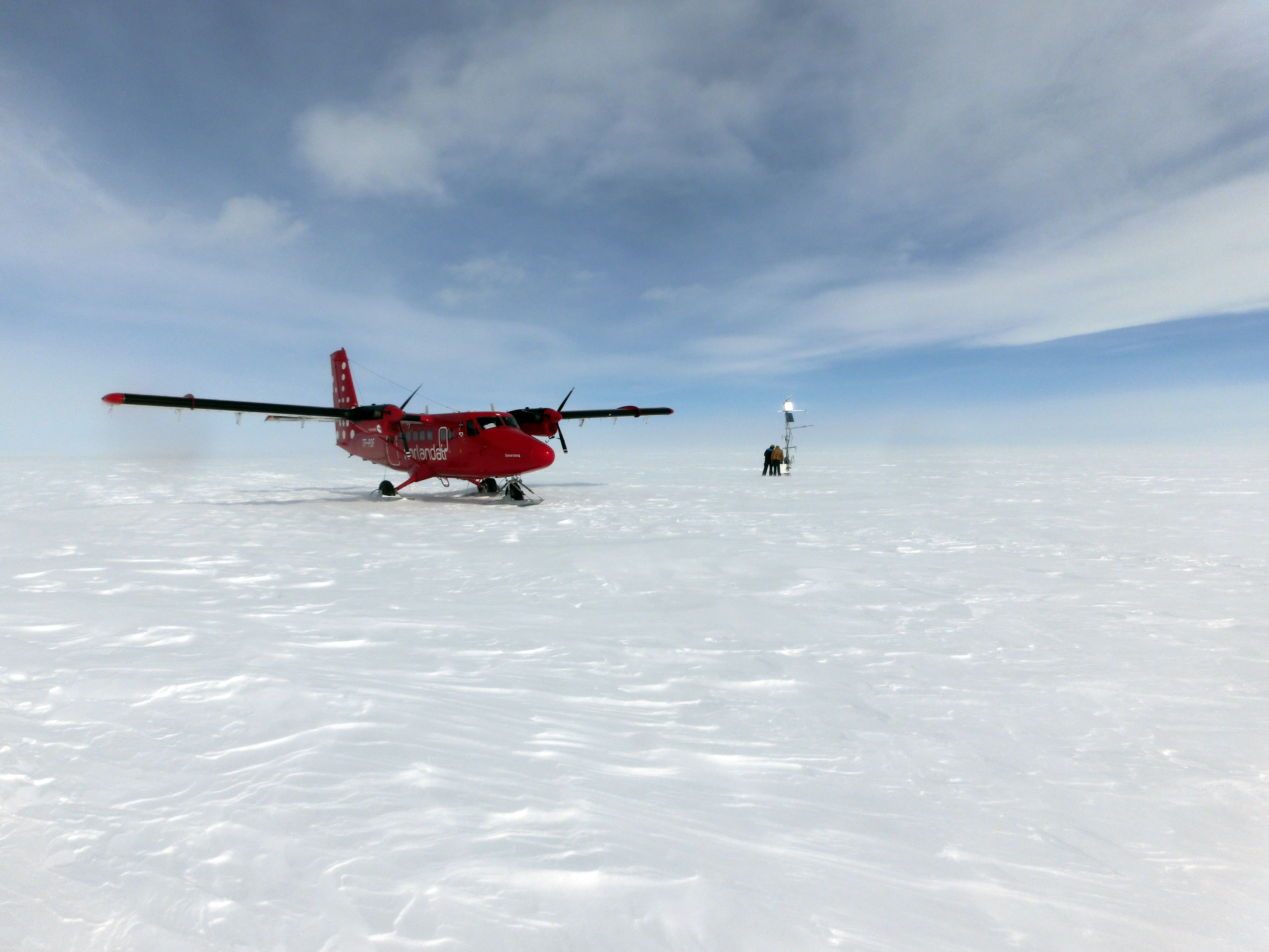 File:Twin Otter near a weather station on Greenland ice sheet jpg