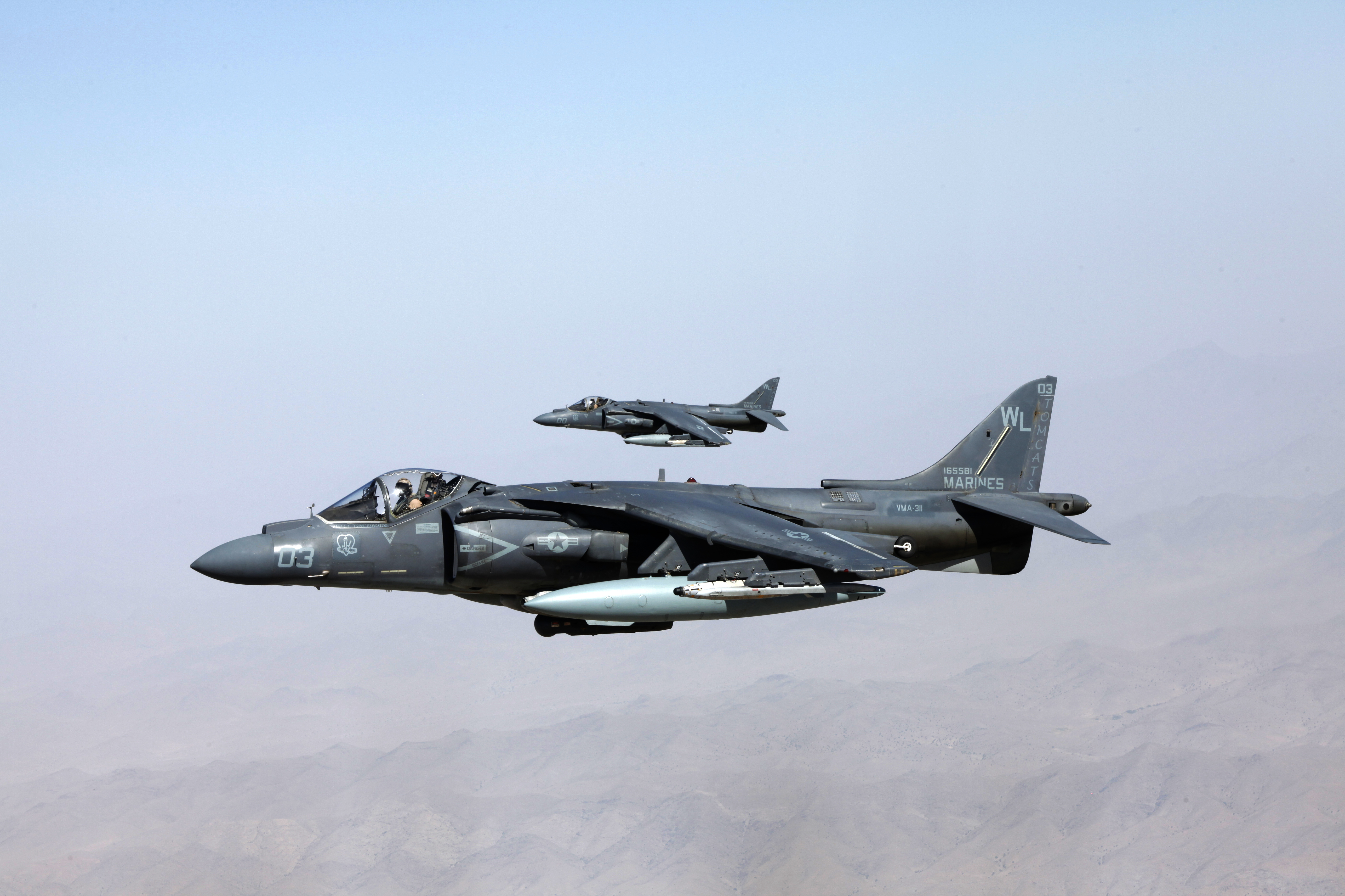 File:U.S. Marine Corps AV-8B Harrier aircraft assigned to ...