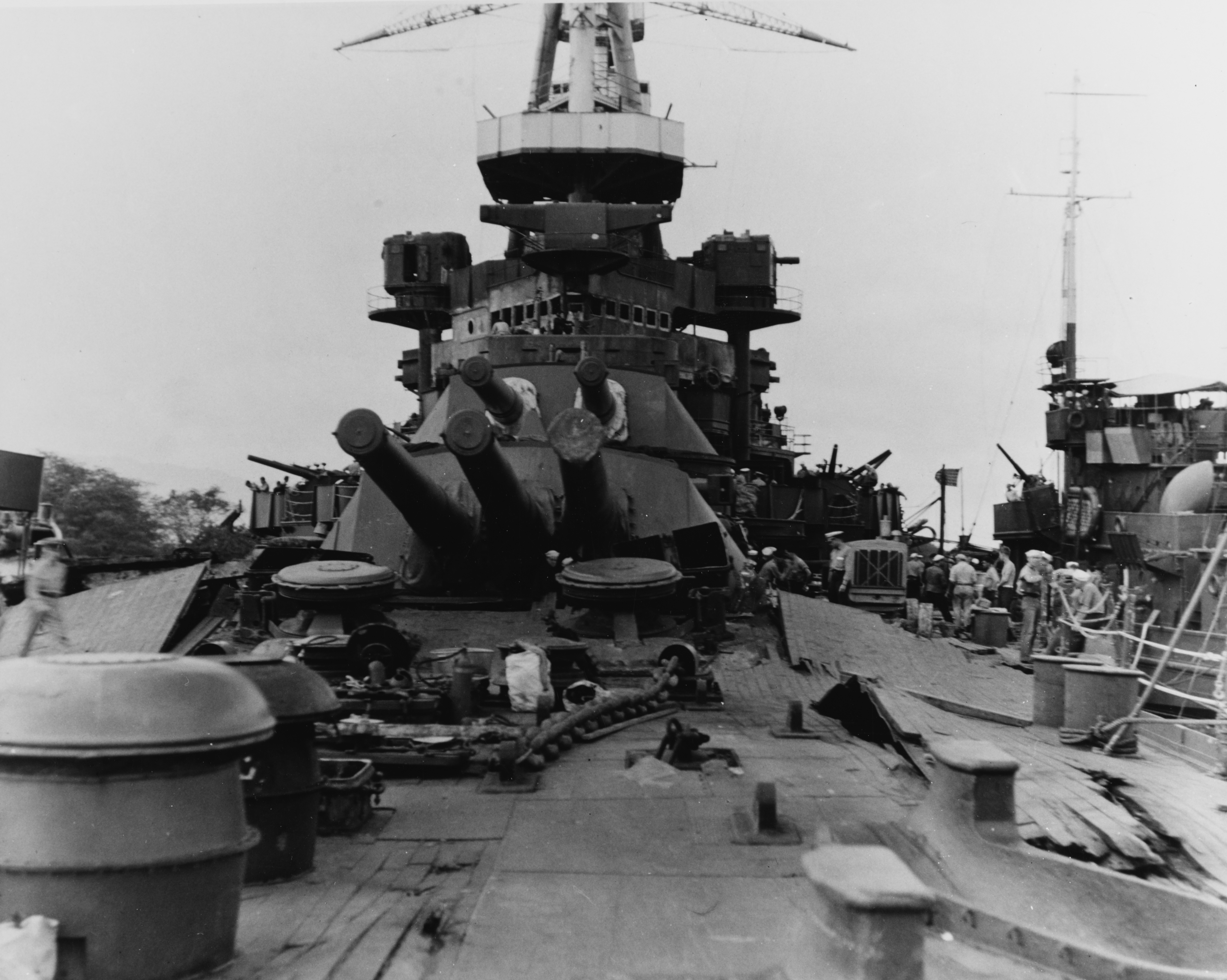 USS Nevada Bow damage after Pearl harbor attack.jpg