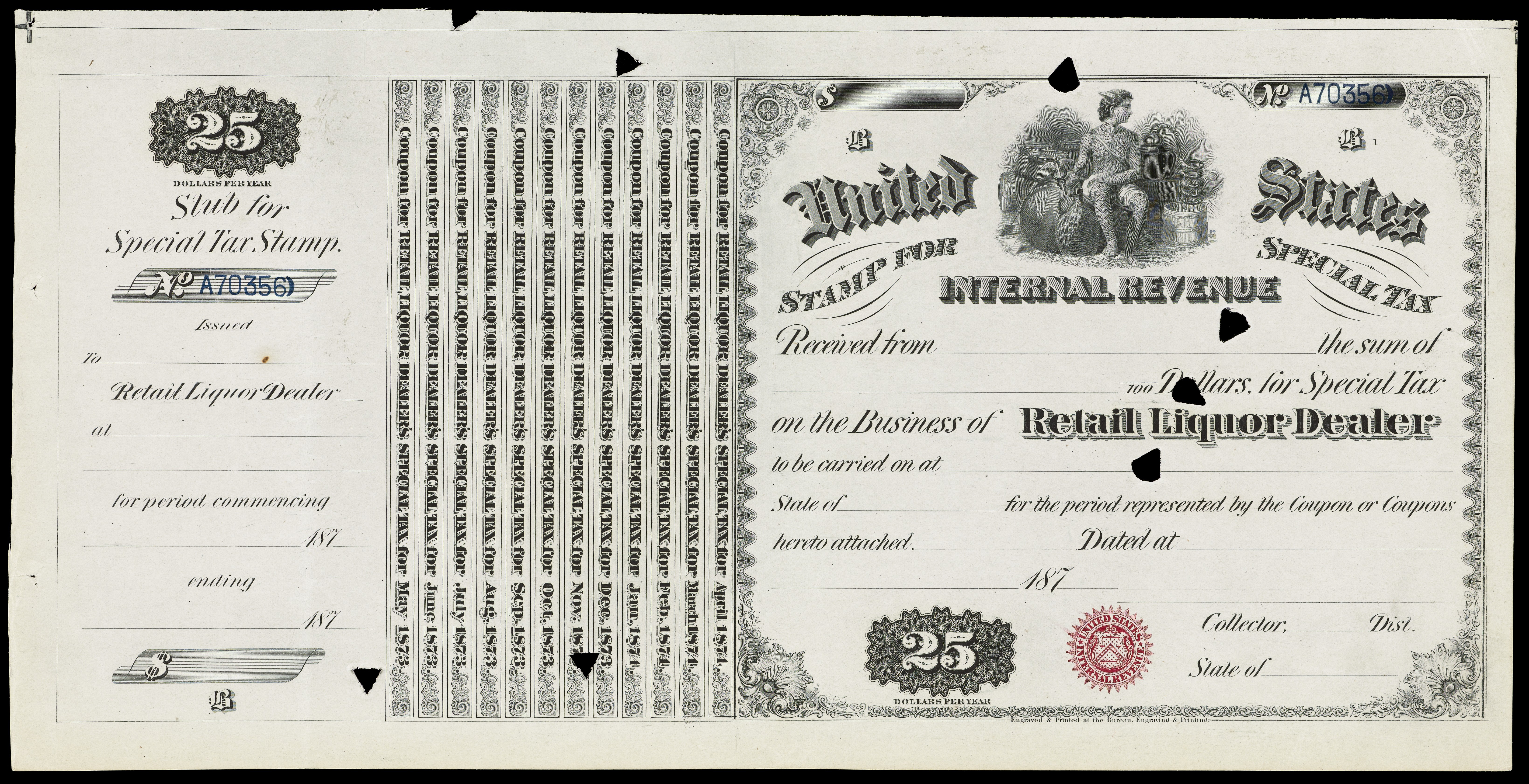 FileUnited States Internal Revenue Stamp For Special Tax Wellcome L0064704