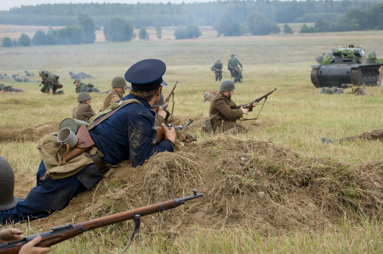Αναπαράσταση της μάχης της Mława