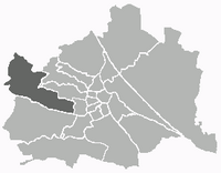 Location of the district within Vienna