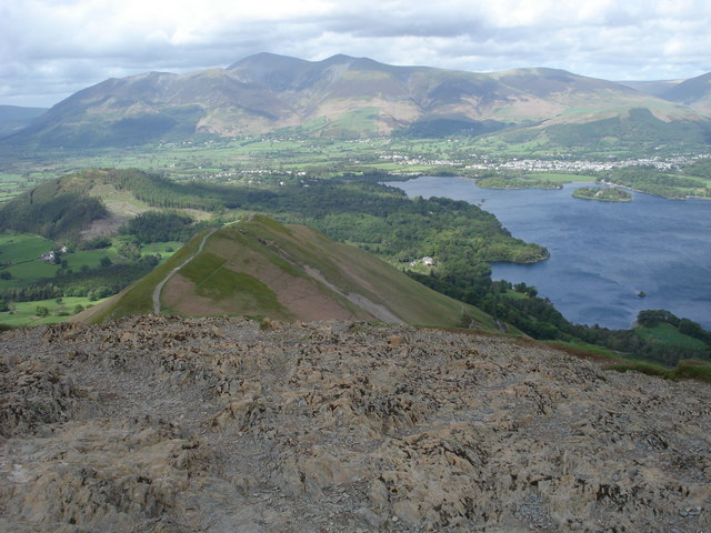 View of Keswick from the summit of Catbells - geograph.org.uk - 441385