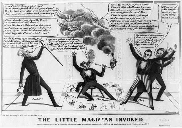 %22The Little Magician Invoked%22 Martin Van Buren, US Presidential Election, 1844.jpg