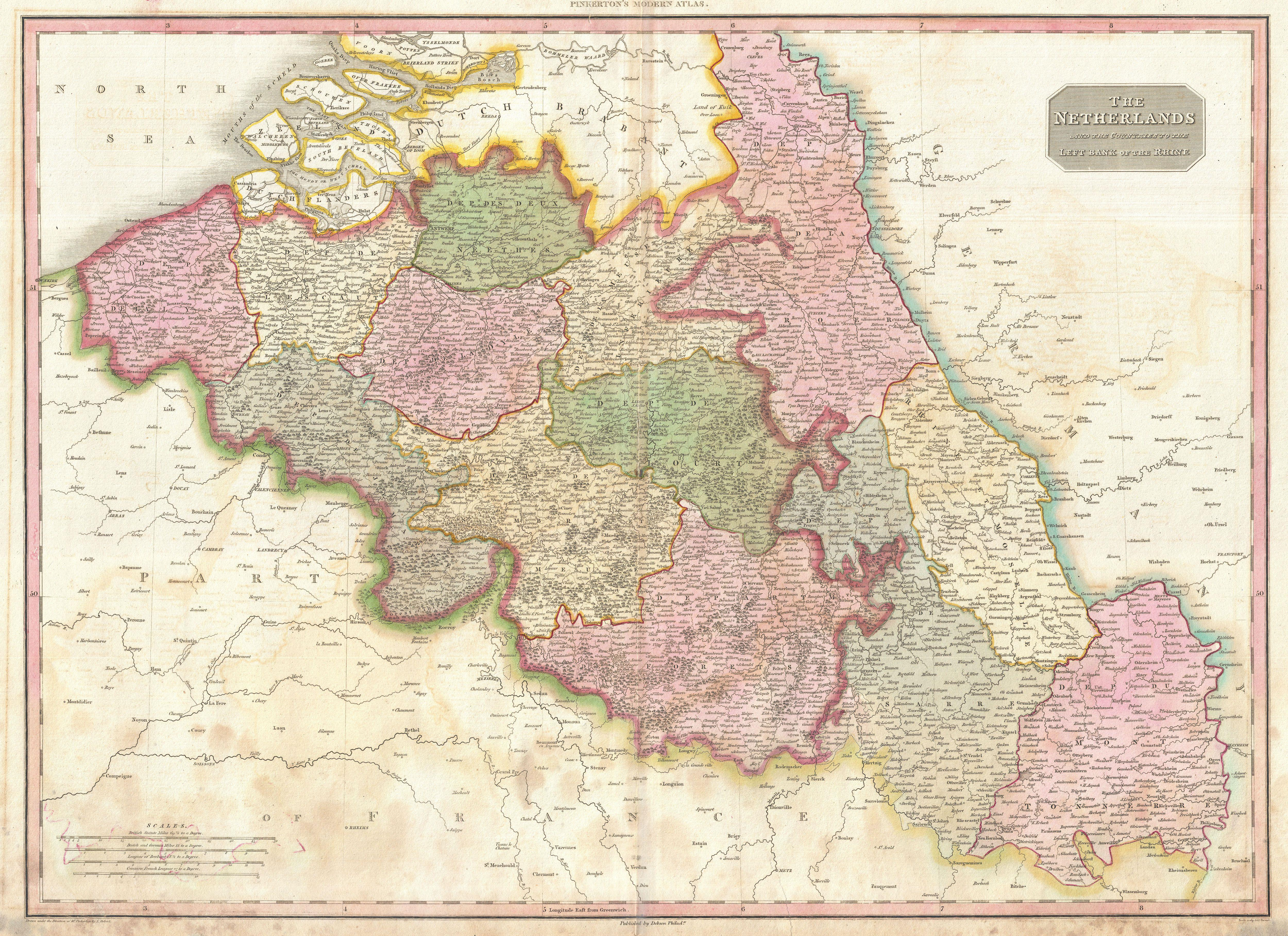 File:1818 Pinkerton Map of Beligum - Geographicus