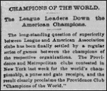 1884 World Series news clipping