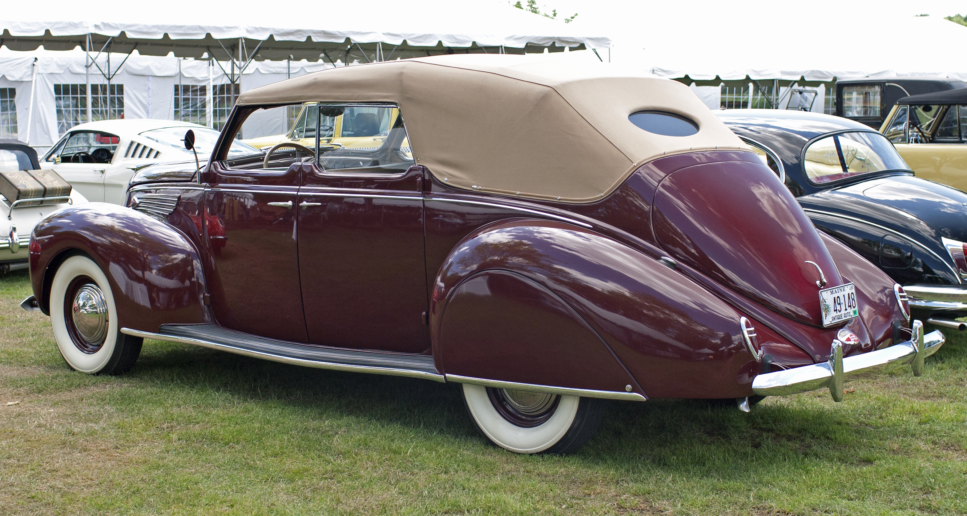File 1938 Lincoln Zephyr 4dr Convertible Jpg Wikimedia