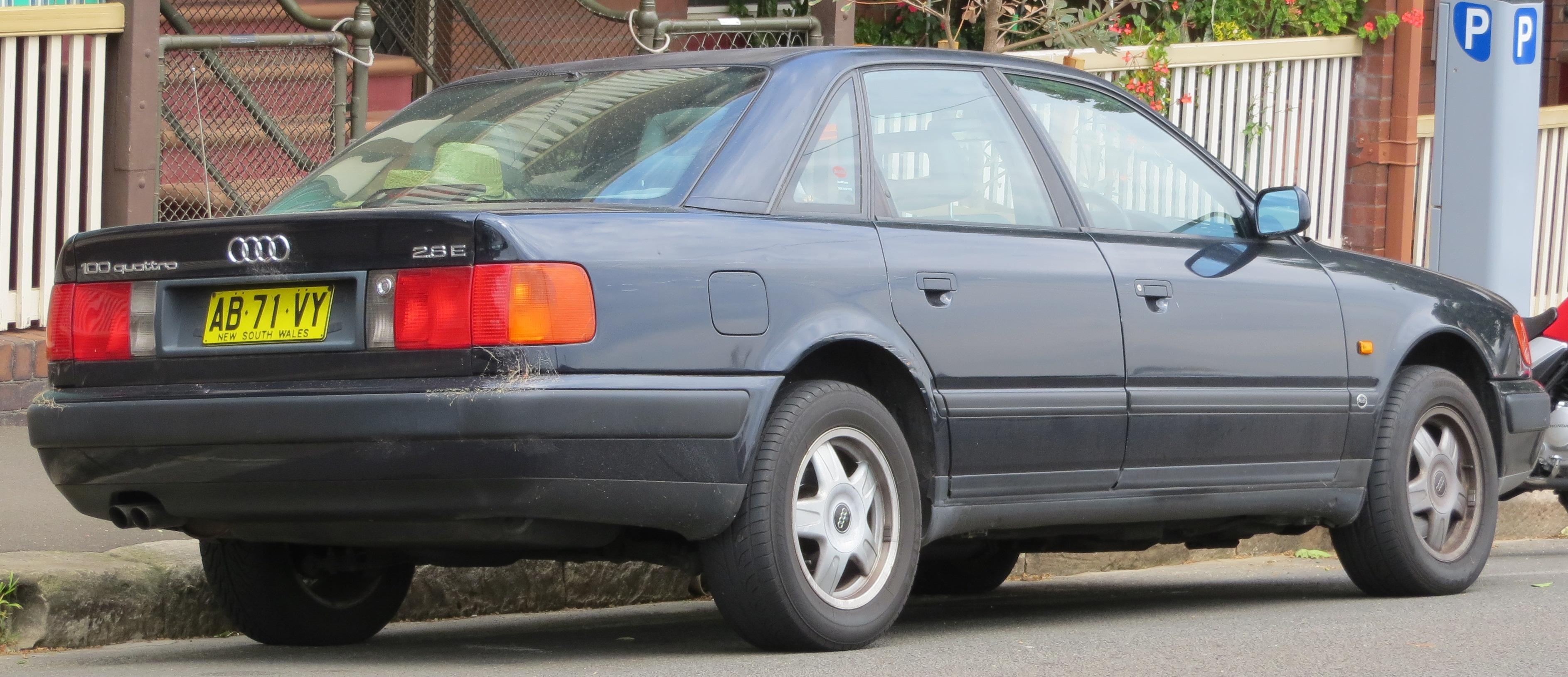 File:1993 Audi 100 (4A) 2.8 E quattro sedan (2012-10-26 ...