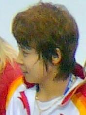 2010 Medals 500m short track-WangMeng-Crop.jpg